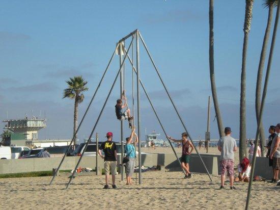 26-Mile Bike Path: Having fun at Venice beach