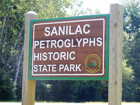Image result for sanilac petroglyphs sign