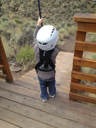 Zip Adventures of Vail: Our 4 year old loved it so much he went solo after his first run!