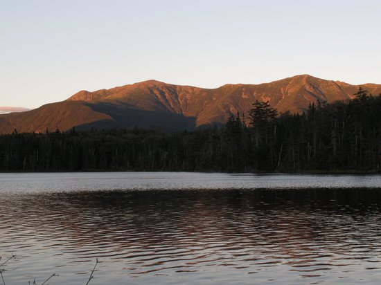 Appalachian Mountain Club High Huts: View of Franconia Ridge from Lonesome Lake