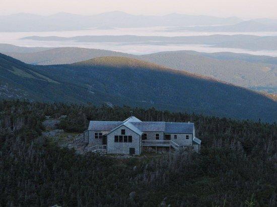 Appalachian Mountain Club High Huts: Greenleaf above the morning fog