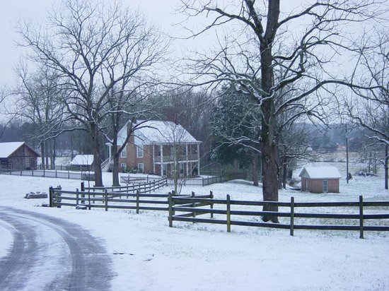 Clisby Austin  House during a winter snow - Tunnel Hill, GA