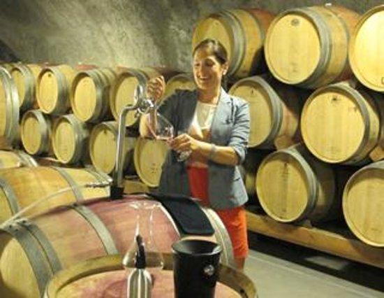 Pride Mountain Vineyards: Katrina - explaining the process