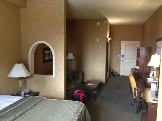 Comfort Suites Alamo/Riverwalk: Room view from corner by the window