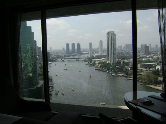 Royal Orchid Sheraton Hotel & Towers: view of the river from our room