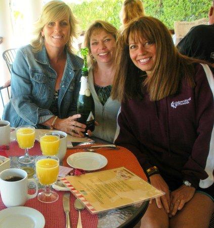Breakfast on the porch at the Cashelmara Inn - Avon by the Sea