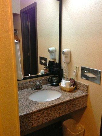 Quality Inn & Suites: vanity outside toilet & shower room