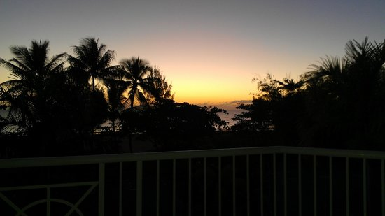 The Beach Place: sunrise from our balcony