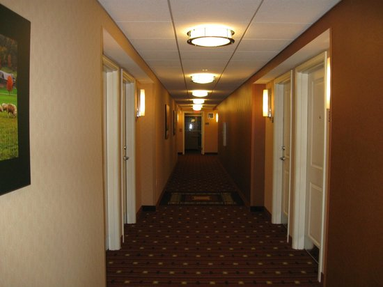 Residence Inn Burlington Colchester: hallway leading to our room
