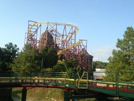 Kings Dominion Camp Wilderness Campground: The Volcano coaster at Kings Dominion
