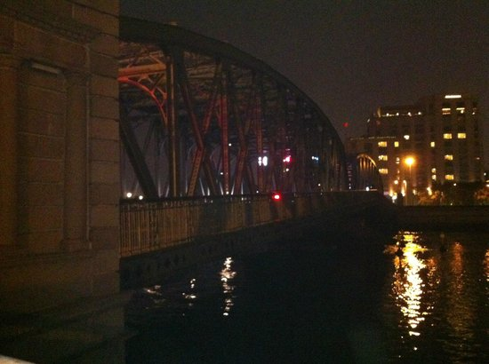 Photo looking back from Bridge to the Broadway Mansions Hotel
