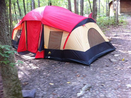 Mauch Chunk Lake Park: Our tent