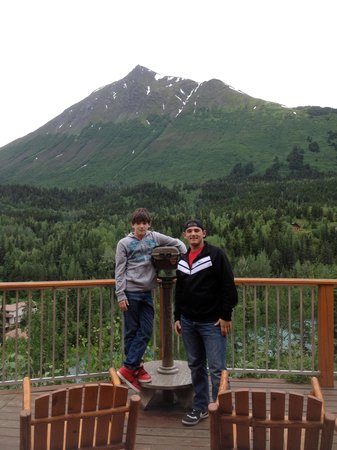 Kenai Princess Wilderness Lodge: View from deck outside restaurant...