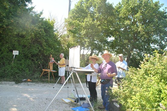 Agriturismo Acquaviva : Brian Keeler and group painting at Acquaviva in June 2013
