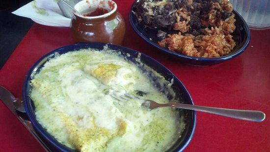 Spinach And Cheese Enchiladas Rice And Black Beans Picture Of Desperados Lake Placid Tripadvisor