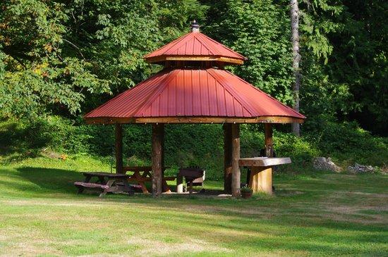 Totem Trail Motel: bbq area
