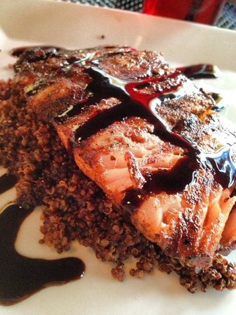 Euphoria and Creation Cafe: Grilled salmon