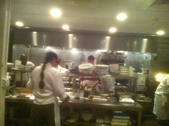 L'Albatros Brasserie + Bar: Clean, efficient, and effective staff in the kitchen.