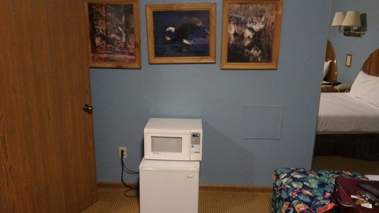 Thunder Bay Resort: Second Bedroom art and extra microwave and fridge