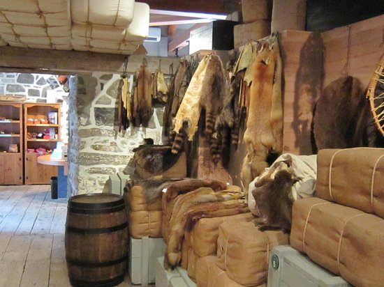 Lachine Fur Trade Museum: Fur pelts of many kinds