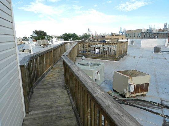 IHSP Chicago Hostel: Geweldige uitzicht vanaf het dak