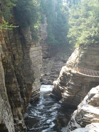 Ausable Chasm: View of the chasm