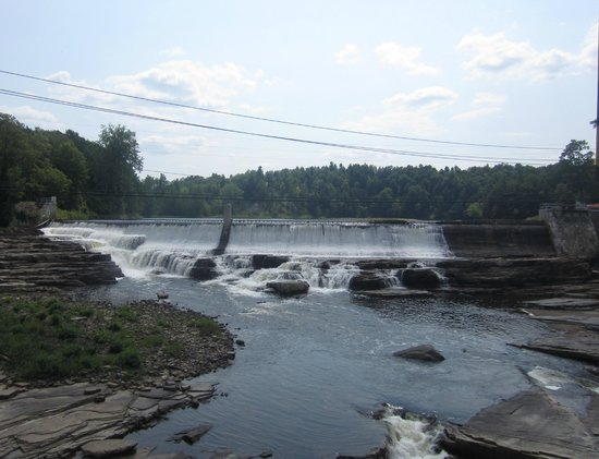 Ausable Chasm: View of the river