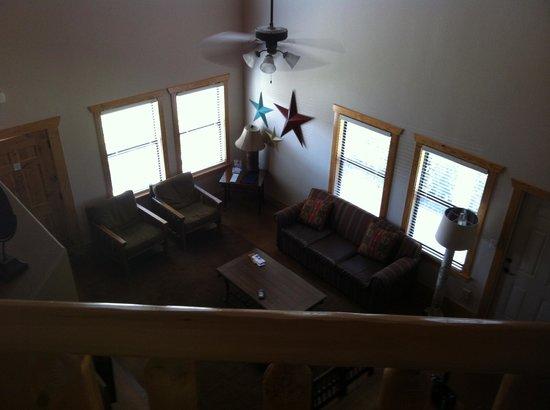 WorldMark New Braunfels: Loft view down to Living Room