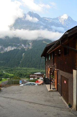 Lehmann`s Herberge: Last building then nothing but valley and mountain views!