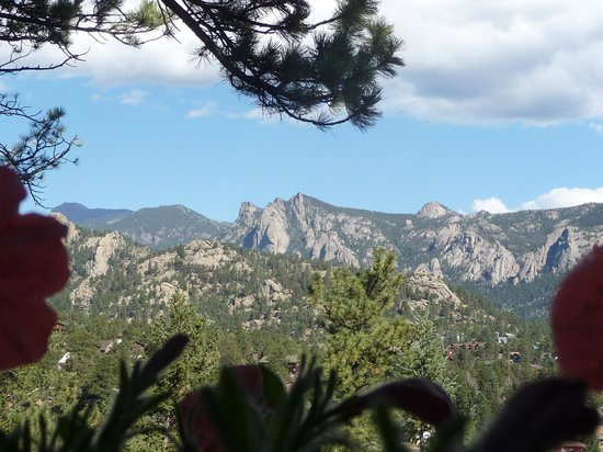 Historic Crags at the Golden Eagle Resort: View from our couples porch dining table