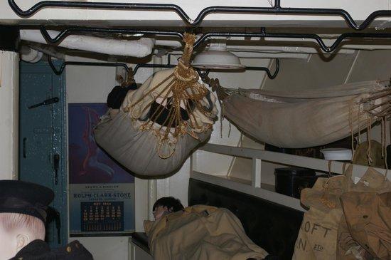 HMCS Sackville: Forward Mess deck cramped quarters