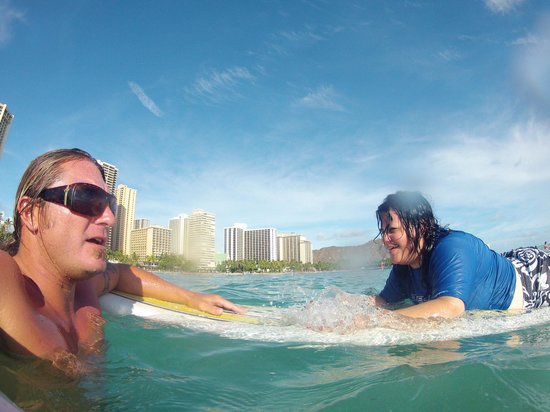 Moku Surf shop: Our Surf Instructor and Me