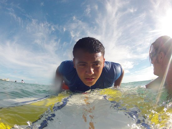 Moku Surf shop: Jesus getting ready for the wave