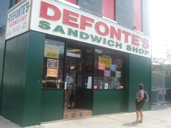 Defonte's of Brooklyn: Defontes Checking the Menu
