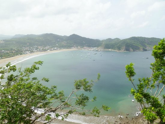 San Juan del Sur Beach: Bay of San Juan del Sur, Nicaurgua taken from Jesus Christo statue