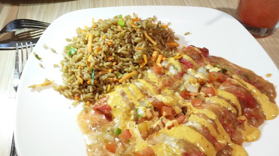 Water Street Seafood Co : Shrimp Enchiladas