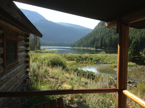 Flat Creek Ranch: View from Josephine cabin