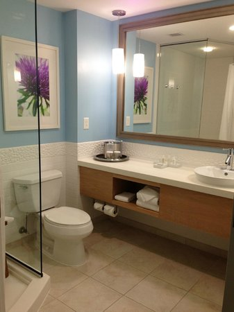 Hotel Indigo Raleigh Durham Airport at RTP : Gorgeous, super clean, and HUGE bathroom!