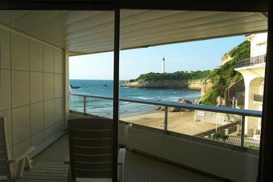 Sofitel Biarritz Le Miramar Thalassa sea & spa: View from inside the room