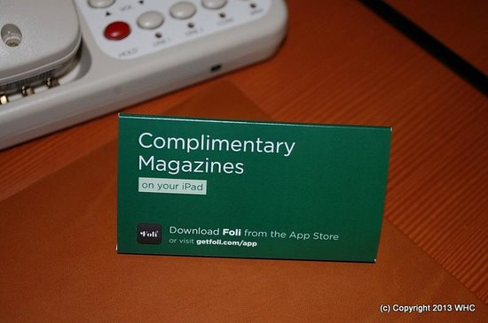 Four Seasons Hotel Silicon Valley at East Palo Alto : free ipad magazine while you stay