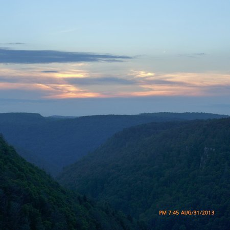 Blackwater Falls State Park Lodge: Sunset From the Balcony