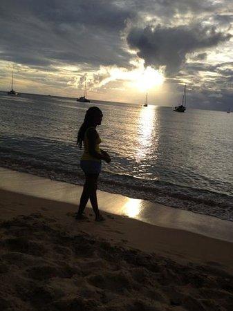 Reduit Beach: beautiful sunset