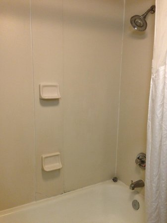 Days Inn & Suites South Boston: Dated bathroom... crack in shower wall and grimey spots :-(
