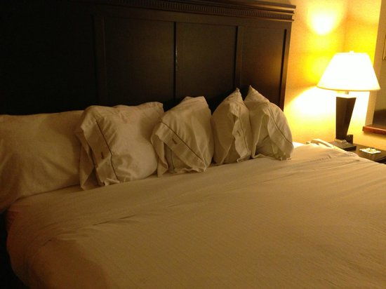 "Days Inn & Suites South Boston: This is how the pillows were ""straightened"" -- no attention to detail was given to make it look"