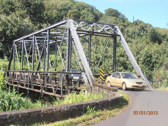 Kauai Beach Villas: One of many bridges on Kaua'i