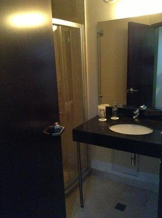 Wyndham Garden Mexico City Polanco: low budget sink, must put furniture below sink