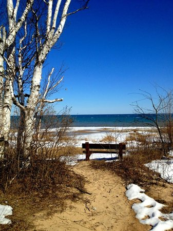 Landmark Resort: View of Lake Michigan from Newport Beach State Park