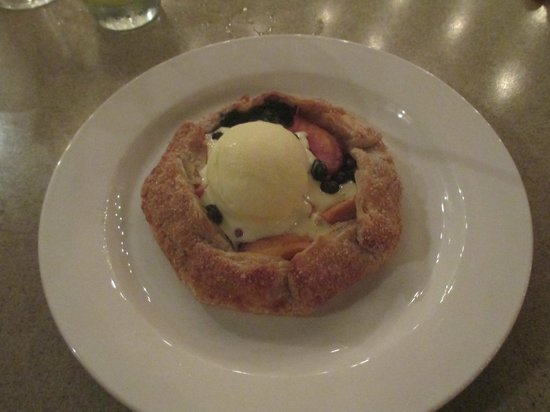 M Restaurant: Peach and blueberry galette