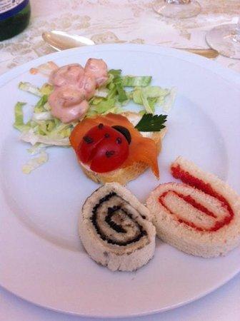 Park Hotel: Raffinatezza dell'antipasto con coccinella il giorno di Ferragosto