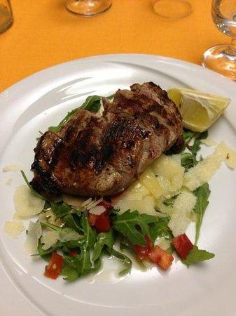 Da Gianni : tagliata with pomodoro, rucula and parmesan cheese